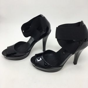 Bcbg MaxAzria  Black elastic ankle strap heels